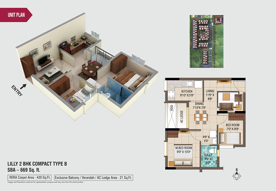 lilly-2bhk-compact-type-B