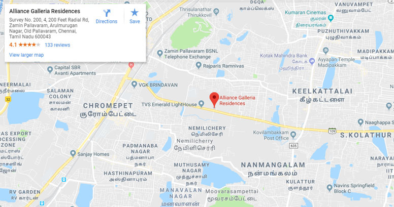 apartments in pallavaram google map